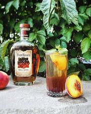 A peachy, whiskey cobbler
