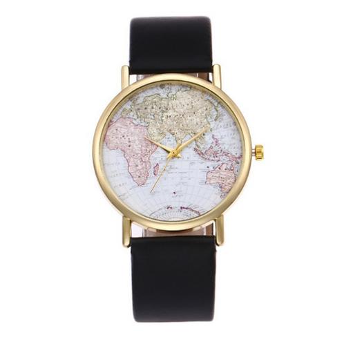 Orologio mappa mondo elegante