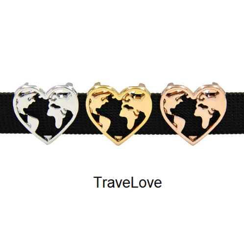 """Ho a cuore il mondo"" charms TravelRy"