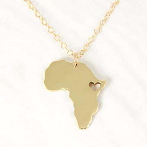 Collana cuore Africa