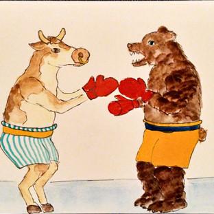 Kuh und Bärenkampf-Karte