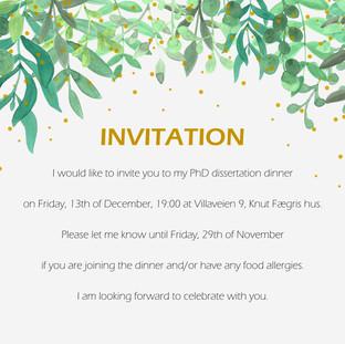 PhD Invitation