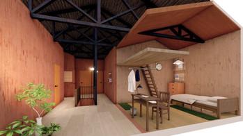 古民家シェアハウスの個室