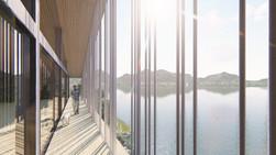湖畔の住宅