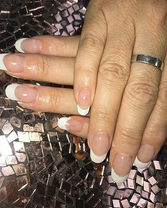 French tip nail extensions _#salonlife #salon #nails #nails💅 #nailtech #acrylicnails #gelishnails #