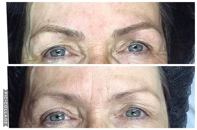 My 1st set of microblading training _Pleased to say my mam is over the moon and so am I _Love this t