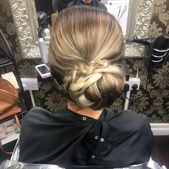 Hair up #ombré #messy #plait #hairdo #curls #volume