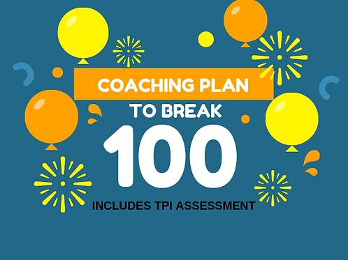 4 week Coaching Plan to Break 100
