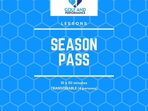Season Pass - Lessons- Transferable