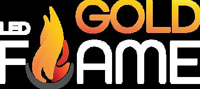 LED Gold Flame Logo (White)