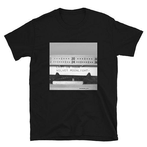 """""""Lost in your Velvet Moonlight"""" Typewriter Poetry Short-Sleeve Unisex T-Shirt"""