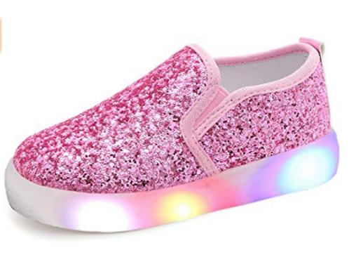 Glitter Pink Slides