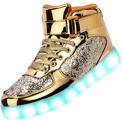 LED Metallic Glitter Sneaks