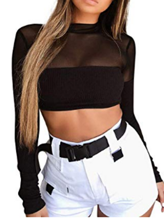 Sheer Crop Top