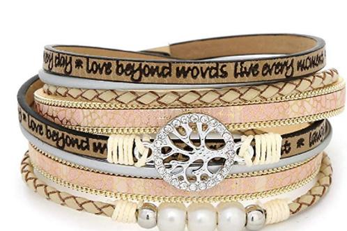 Leather Bracelet & Charm