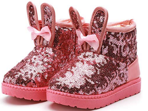 Sequins Bunny Boots