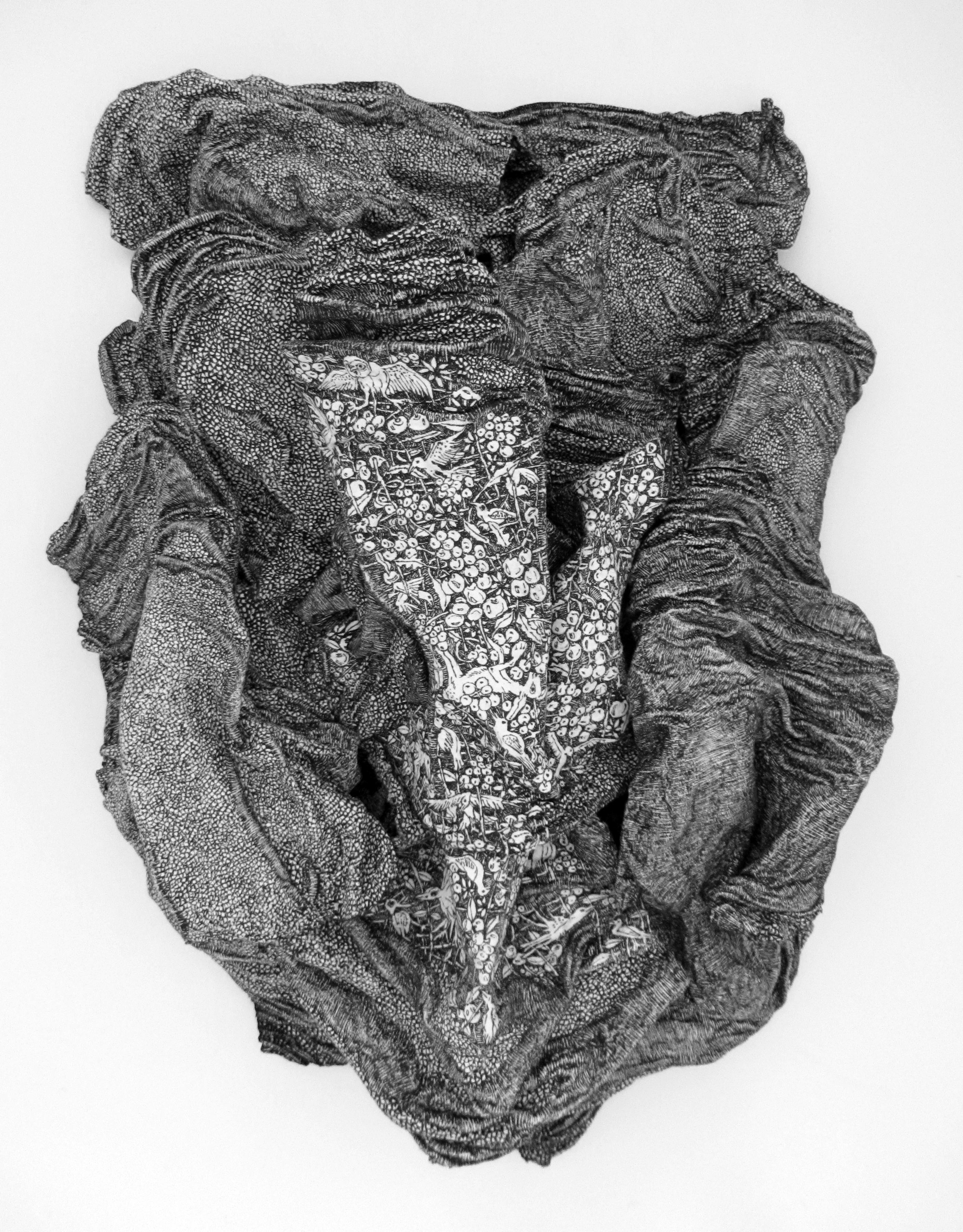 La pierre des tourments N°24, 2016, 53cm x 52cm x 6,5cm