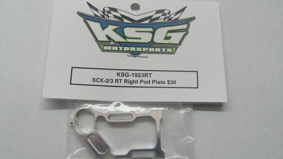 SCX-2/3 RT Right Pod Plate