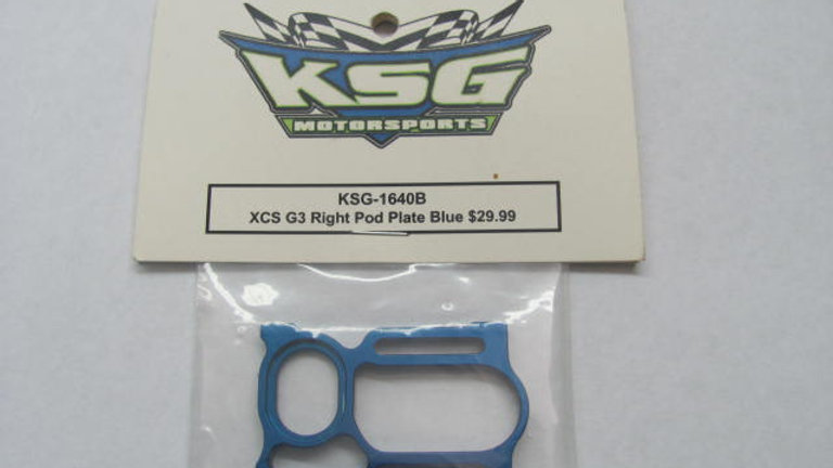 XCS G3 Right Pod Plate Blue