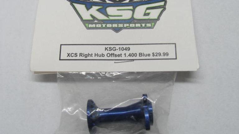 XCS Right Offset 1.400 Blue