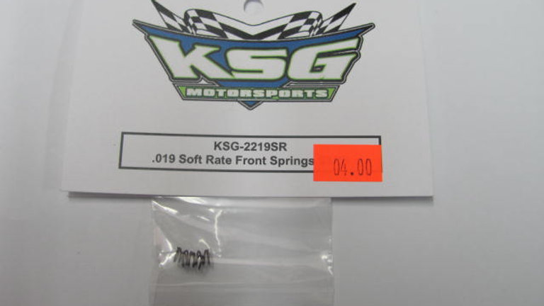 .019 Soft Rate Front Springs