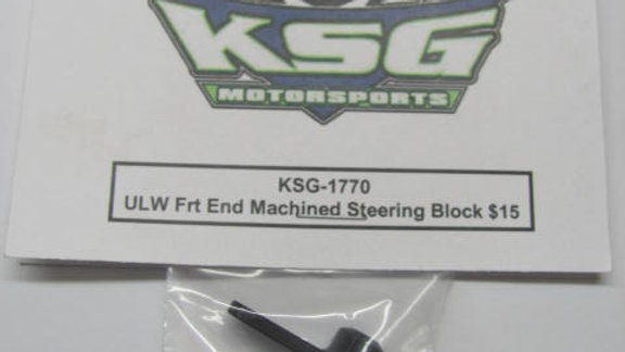 ULW Front End Machined Steering Block