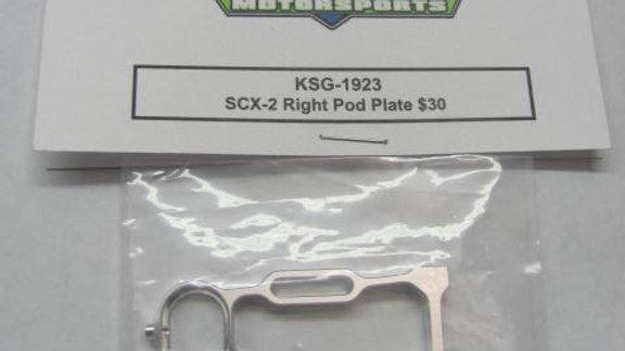 SCX-2 Right Pod Plate