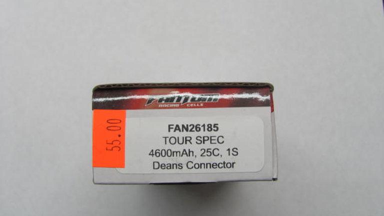 Tour Spec 4600 mAh, 25c, 1s Deans Connector