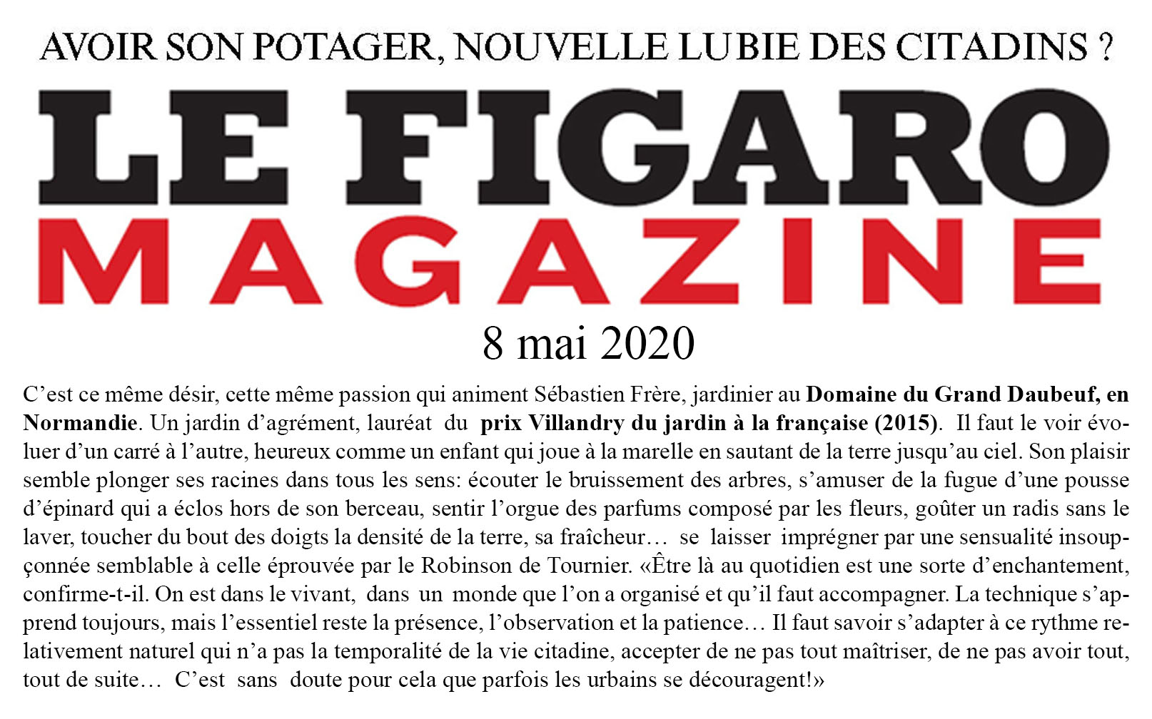 2020 05 09 Figaro Magazine article compl