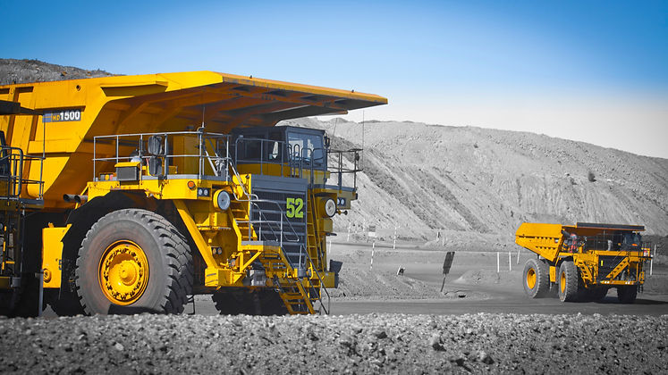 SAFEgroup Automation image of a mining dump truck in an open cut mine