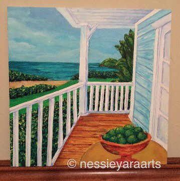 """A hint of lime - Limited Edition Print by Nessie Yara - 8x8"""""""