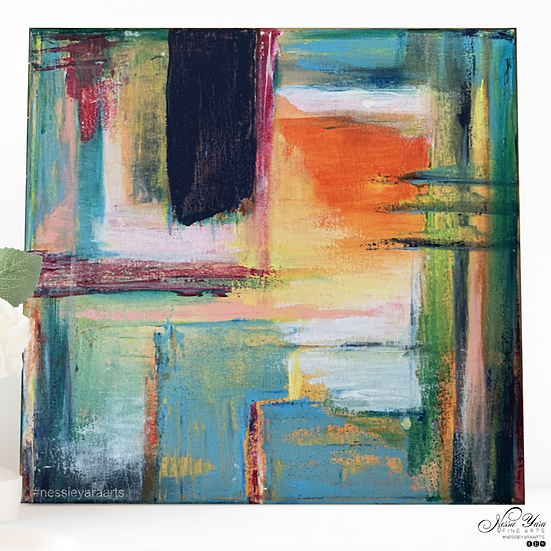 """A flux in time - Original Acrylic Painting by Nessie Yara - 12x12"""""""