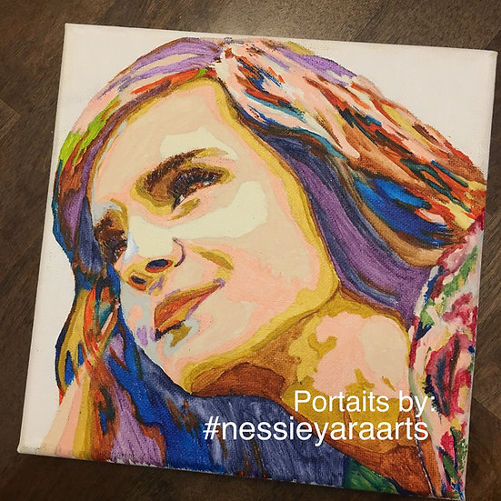 Custom Close Up Portrait from photo - acrylic painting