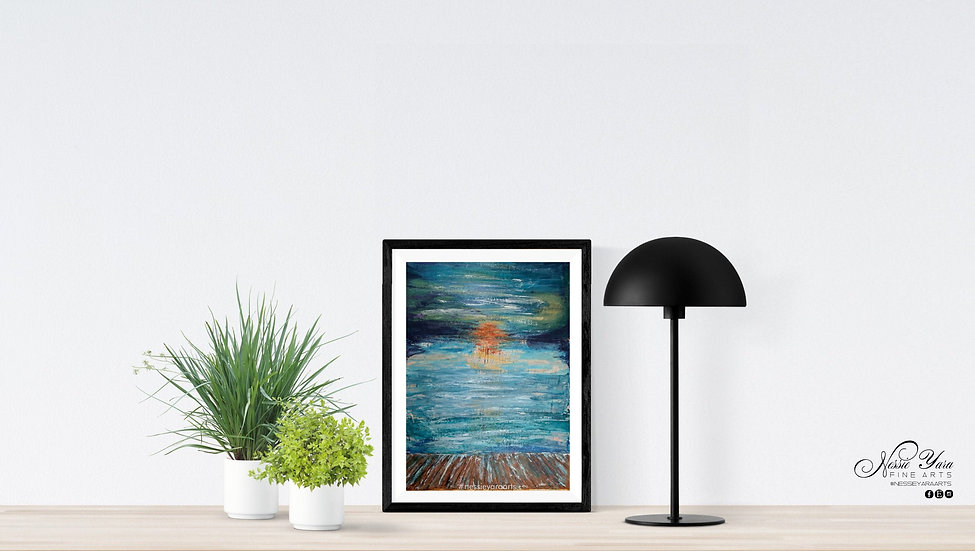 Angler's Sunset - Original Painting by Nessie Yara -18x