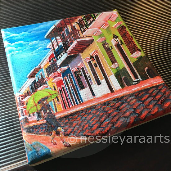De Paseo - Limited Edition Print by Nessie Yara - 8x8