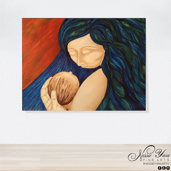 "Madonna of the Keys - Original Painting by Nessie Yara - 30x40"" - acrylic"
