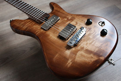 Luthier Troyes Paris reims guitare aube France Scelerate bois Peuplier Gotoh Hipshot artisan magasin musique humbucker P90