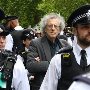 Piers Corbyn arrested for a fifth time at anti-lockdown protest as Covid infections rise