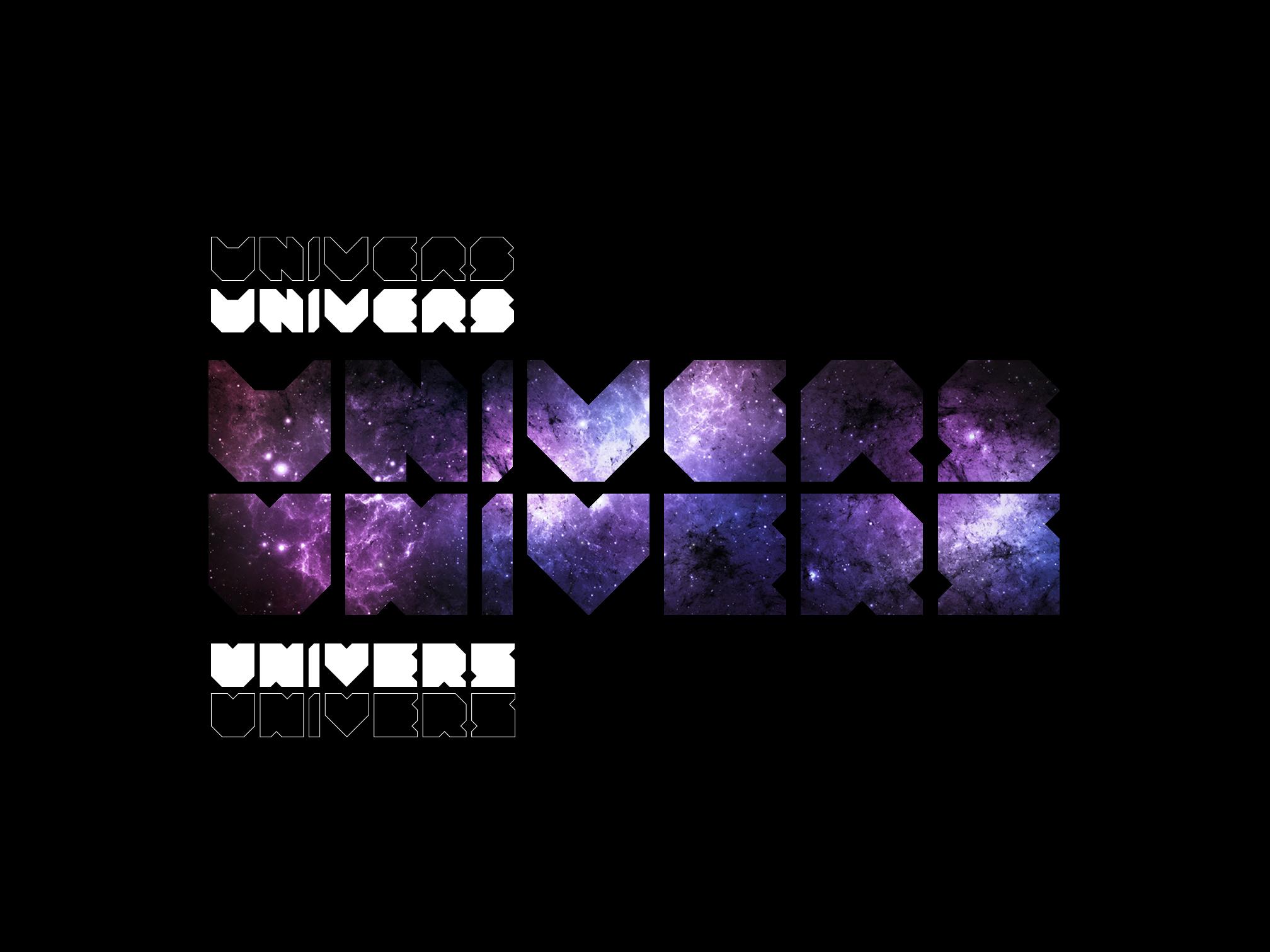 Typographie Univers