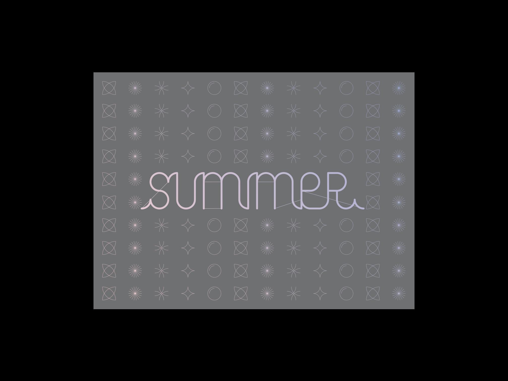 Typographie Summer