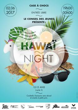 Affiche Hawaï Night