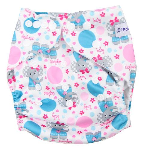 """""""Elephants"""" Pocket Diaper"""