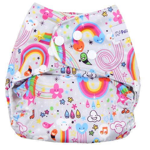 """Rainbows"" Pocket Diaper"