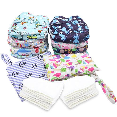 Ultimate 18-Pc Pocket Diaper Starter Kit