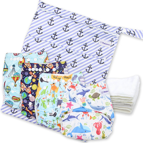 9-Pc Pocket Diaper Starter Kit