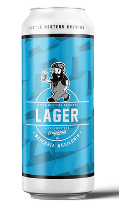 Small Case of Little Mesters Original Lager 6x440ml Cans