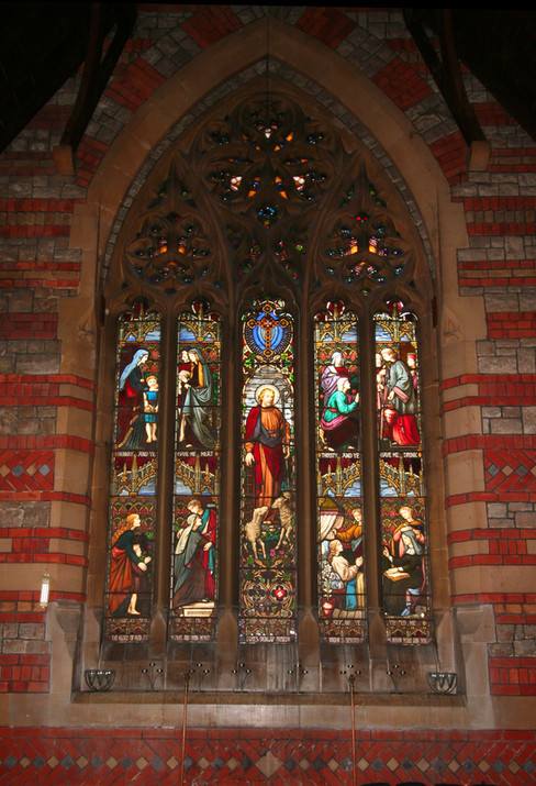 Main stained glass window
