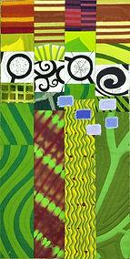 Art Quilt, Quilt, Abstract Quilt, Roadside Flowers