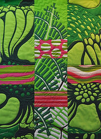 Art Quilt, Quilt, Abstract Quilt, Spring