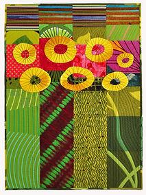 Art Quilt, Quilt, Abstract Quilt, September Flowers